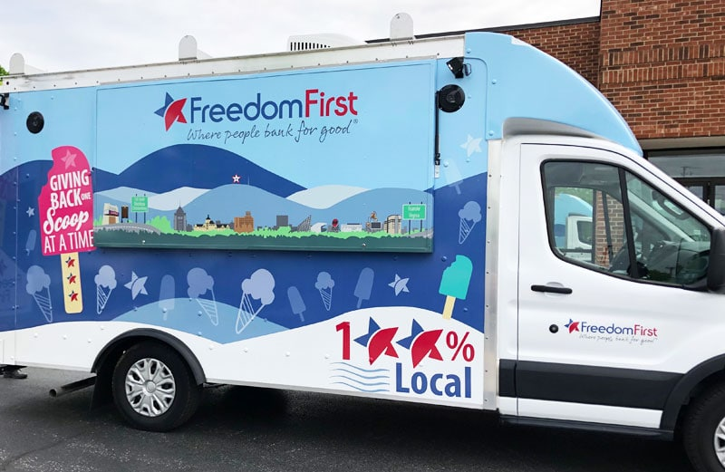 Freedom First's new Scoop ice cream truck